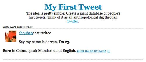 My First Tweet )
