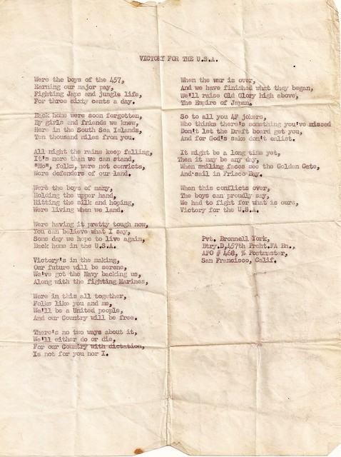 Victory For The USA Poem 11th Airborne Division Pvt Bronnell York by PeaceLoveScoobie