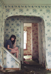 (yyellowbird) Tags: wallpaper house lauren abandoned girl stairs illinois