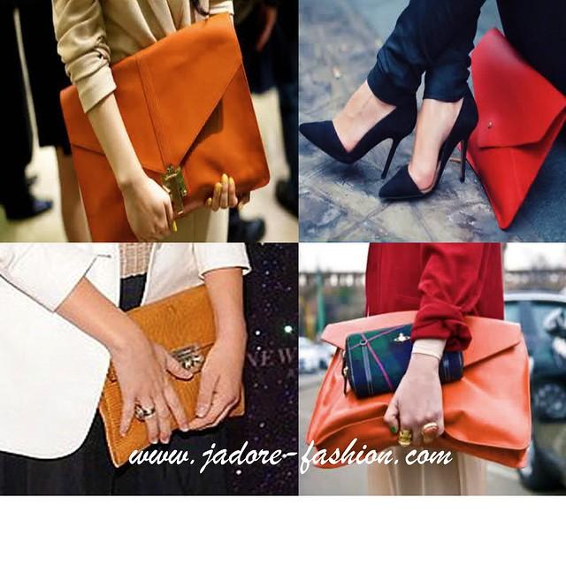 Trend- Street Style-Envelope Clutch
