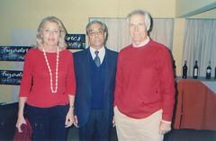 Con Maximiano Trapero y su esposa en el Encuentro de Payadores Internacional de Casablanca, V Región, febrero 2005