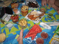 Picnic outside the Jimmy Buffet concert