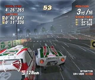 Sega Rally 2 Lluvia