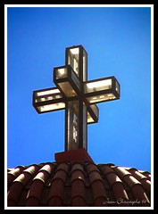 The 3rd dimension ! (Jean-christophe 94) Tags: blue roof sky church 3d cross iglesia creta greece église croix kriti cre jc94 jeanchristophe94