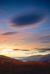 Two Flying Sources Over Loch Rannoch (Melnikovi) Tags: sunset clouds scotland perthshire ufo loch kinloch rannoch