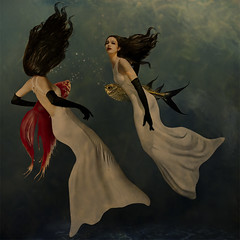 (`Vorfas) Tags: woman fish girl beautiful glamour underwater gloves fantasy mermaids lovely mermaid submerged photoart themoulinrouge ayelen mywinners vorfas vision1000 visiongroup vision100