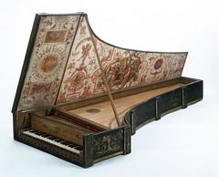 Harpsichord by Giovanni Baffo, 1574, Venice. Museum no. 6007-1859