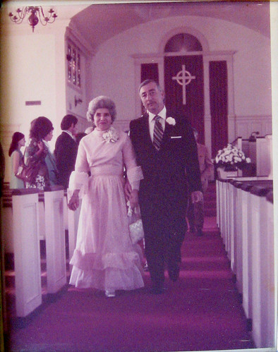 Grandma and Grandpa at my mother's first wedding