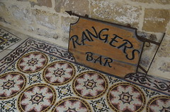 Old Sign from Rangers Bar