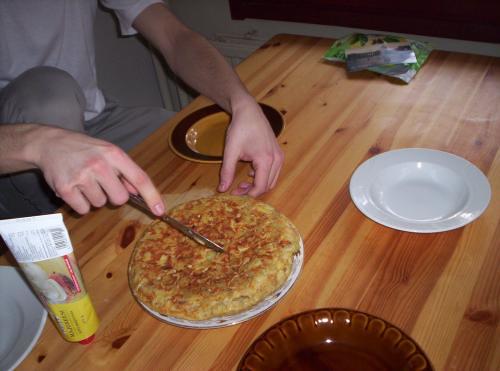 hacer más Tortillas de patata durante el erasmus que en España es un clásico.
