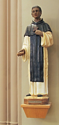 Saint Elizabeth, Mother of John the Baptist Roman Catholic Church in Saint Louis, Missouri, USA - statue of Saint Martin de Porres
