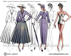 Womens fashion 1940s (irina ivanova) Tags: fashion design costume 1940s christiandior fashionillustration fashionhistory lucienlelong jacquesfath fashiondrawing costumehistory christobalbalensiaga pierrebalmanfashioncostumefashionhistoryfashionillustrationfashiondrawingcostumehistory