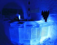IMG_2899 (gezzajax) Tags: blue snow cold art ice water architecture reindeer design bed sweden freezing arctic e freeze lapland northern dogsledding kiruna icehotel arcticcircle jukkasjrvi snowmobil torne reindeerskin rivertorne