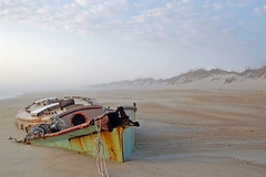 Ghost Ship (pilz8) Tags: beach fog d50 sand shipwreck obx pilz8