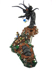 Ephram's Garden 1 (mondayn00dle) Tags: black post lego fantasy horror creature biomechanical apoc moc postapoc foitsop blackfantasy headforthehillsapocalegocontest