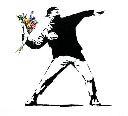 graffiti artist banksy. guerilla artist Banksy,