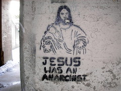 Jesus was an anarchist (ExcuseMySarcasm) Tags: urban streetart art graffiti stencil jesus detroit graffitis