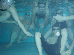 impington swimmers under water
