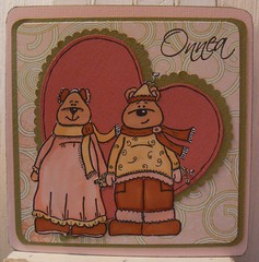 Engagement card with Landstoken Scrappyhappystamps