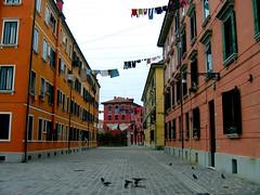 Venise, campo (Lili-Vanille) Tags: venice vent place couleurs pigeons campo piazza venise venezia linge lessive