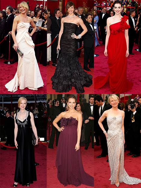 alba jessica oscar picture. 2008 Academy Awards Red Carpet
