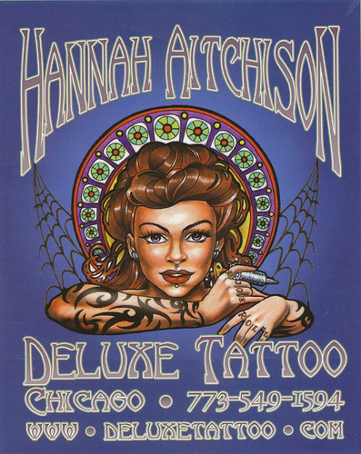 Hannah Aitchison - Deluxe Tattoo - Studio
