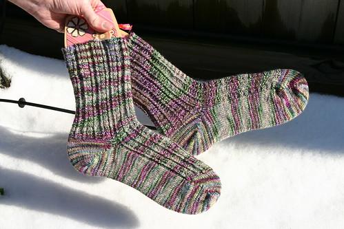 Socks in the snow