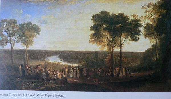 Painting of the view from Richmond Hill