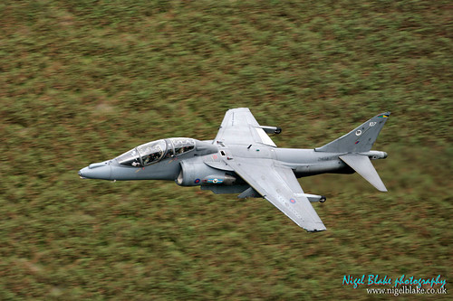 BAe Harrier T12 Low at Bwlch pass Wales