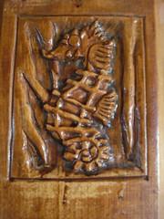 seahorse carved on piece of oak - Ιππόκαμπος σσκαλισμένος σε οξύα