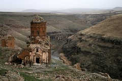 Ani - Vandalism 1 (nersess) Tags: church turkey asia border caucasus armenia vandalism ani genocide anatolia armenian kars culturalgenocide kaukasus turkei asiaminor kaukaz