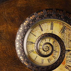 Antique Time Spiral (fpsurgeon) Tags: clock spiral antique infinity timepiece fractal recursive escher droste conformal strobist mathmap