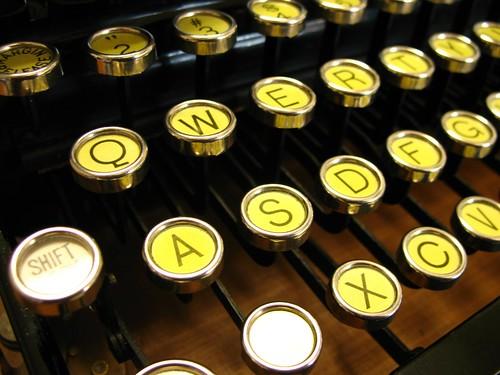typewriter home row