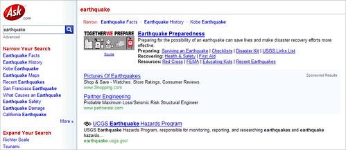 Ask Quake Results