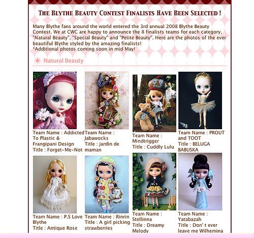 Blythe Beauty Contest 2008