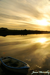 Solitude ! (James Whorriskey (Delbert Jackson)) Tags: ireland sunset reflection water catchycolors boat kerry londonderry mooring northernireland derry firstquality impressionsexpressions ballylongford aroundus infinestyle irishlight jameswhorriskey delbertjackson jameswhoriskey saleenpier