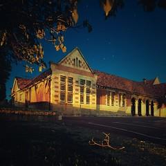 Untitled (alistair dickinson) Tags: longexposure nightphotography trees building stars  sigmasd14 sigma1020mmf456exhsm nomealice
