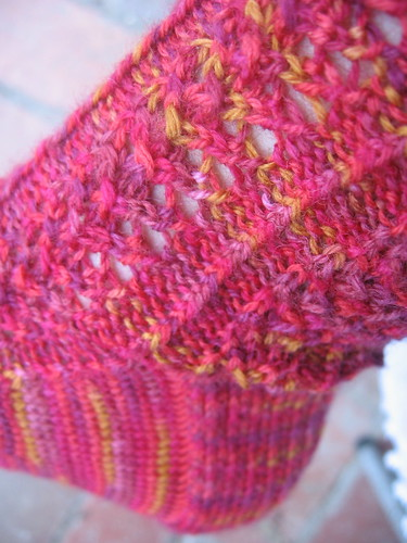 Hedera sock, lace detail