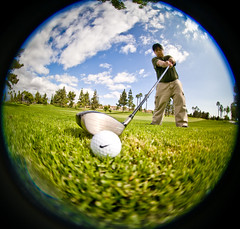 Year 2 ~ Day 26: Just Do It! (arkworld) Tags: me golf nike fisheye golfcourse pete 365 8mm justdoit golfball peleng golfclub 365days pelengfisheye 365year2 moodsleepy