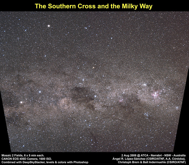 The Southern Cross and the Milky Way