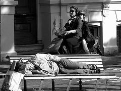 taking a nap (wojofoto) Tags: amsterdam bw zwartwit bwdreams wolfgangjosten wojofoto