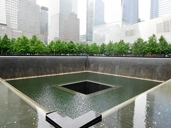 9/11 Memorial (kenjet) Tags: ny nyc newyorkcity manhattan memorial 911 september11 museum nationalseptember11memorial 911memorial square water empty pool northpool southpool structure remembrance skyline