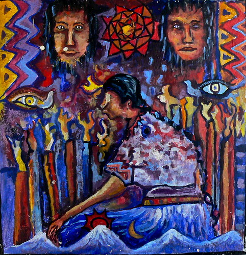 raffigurazioni maya in guatemala pittura