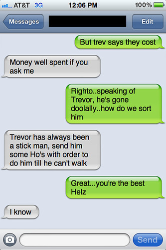Txt from New York: Andrew and Helen chat