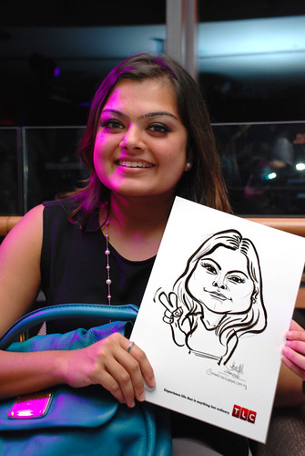 Caricature live sketching for TLC - 33