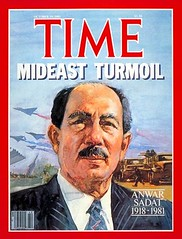 President Sadat on the time cover for the fifth time (Kodak Agfa) Tags: people history media egypt cover magazines timemagazine egyptians coverboy