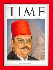 King Farouk on the cover of the time for the second time (Kodak Agfa) Tags: people history media egypt cover magazines timemagazine egyptians coverboy