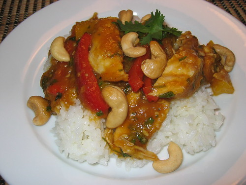 Thai Mango Chicken on Rice