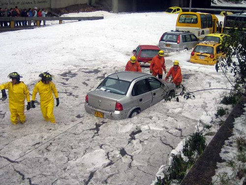 Trying to rescue people trapped in cars