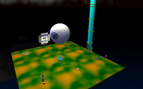 Présentation de l'espace Second Life « The Labo »